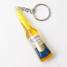 맥주병모양 PVC 열쇠고리