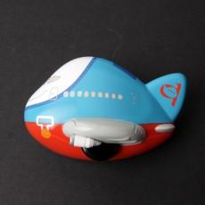 비행기 모양 자석 메모 클립