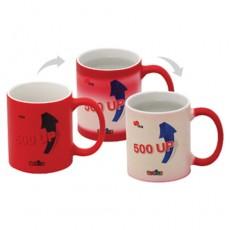 컵(도자기머그)-포토머그변색빨강